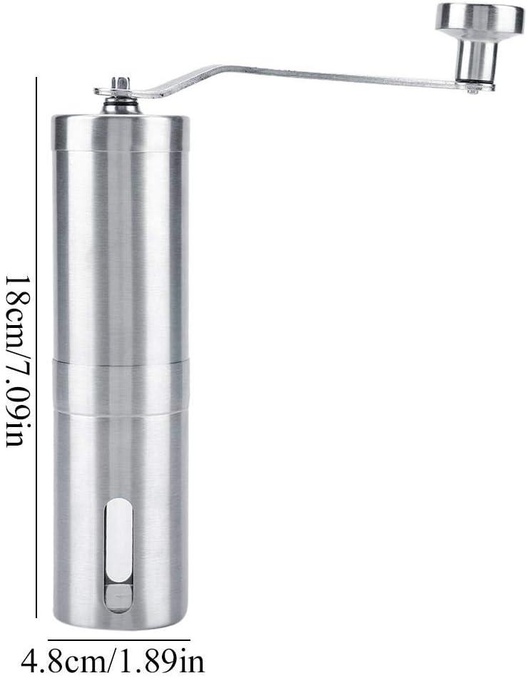 Multifonctionnel pour Vanille Herbes Sel de Mer Poivre Moulin /à Caf/é Manuel Broyeur /à Caf/é en Acier Inoxydable avec Meule en C/éramique Moulin /à Grains de Caf/é R/églable