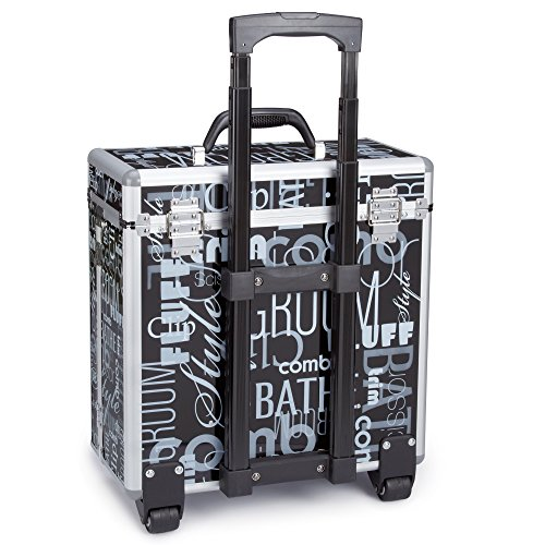 Top Performance Grooming Tool Cases with Wheels - Durable and Versatile Aluminum Cases Designed for the Storage of Grooming Tools and Supplies for the Professional Pet Groomer, Graffiti Black by Top Performance (Image #2)