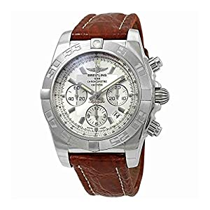 Breitling Chronomat 44 Chronograph Automatic Silver Dial Mens Watch AB011011-G684BRCT