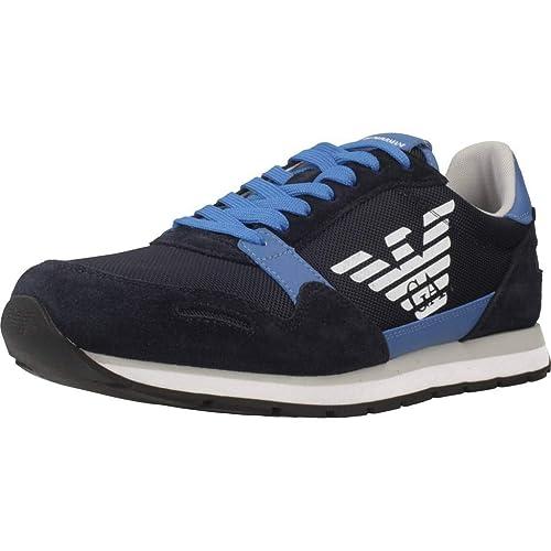 EMPORIO ARMANI X4X215-XL198 Zapatillas Moda Hombres Marino/Azul - 41 - Zapatillas Bajas: Amazon.es: Zapatos y complementos