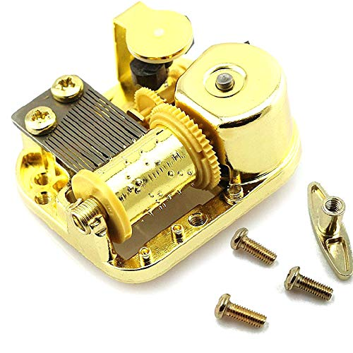 Pursuestar 18 Note Gold Plated Windup Musical Mechanism Movement DIY Clockwork Music Box with Key Screws - You are My Sushine