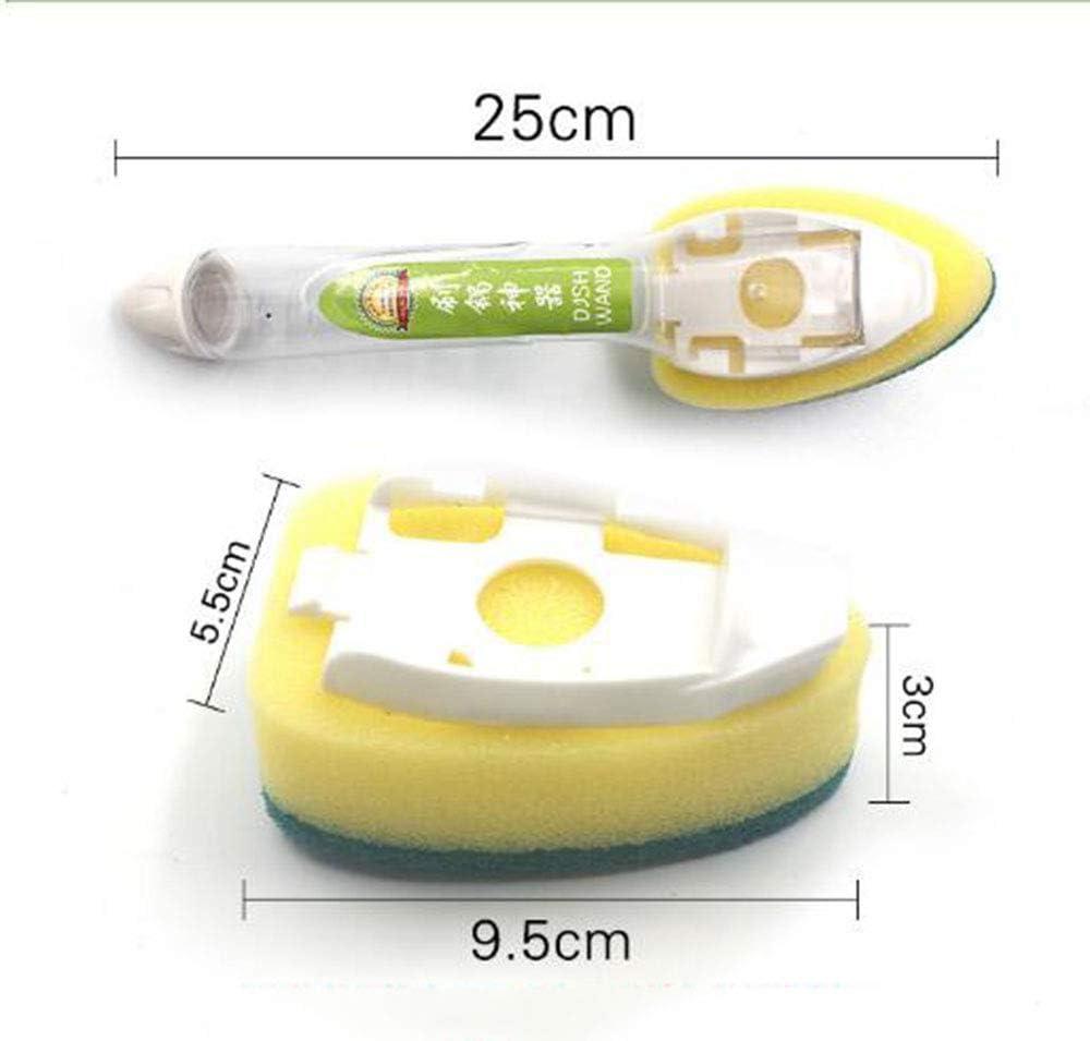 YUM con depurador dispensador de jabón de Recarga, Cepillo de Limpieza, Esponja reemplazable, Productos de Limpieza de Esponja,: Amazon.es: Hogar