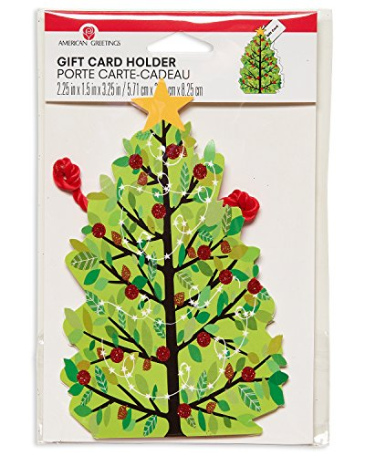 Large Product Image of American Greetings Christmas Gift Card Holder, Christmas Tree