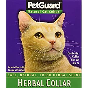 PetGuard Herbal Cat Collar Scented with Essential Oils, One Collar 30