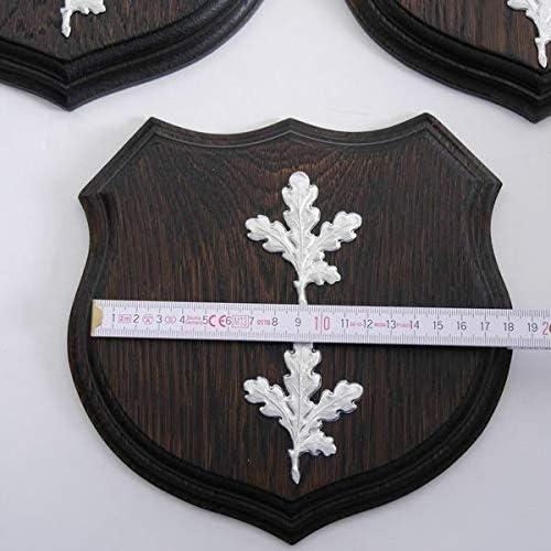 GTK KRUMHOLZ Lot de 3 plaques de pl/âtre en Forme de troph/ée avec Feuille de ch/êne 17 cm