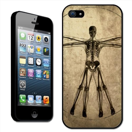 Fancy A Snuggle Davinci Style Drawing of Human Skeleton Torso Clip On Back Cover Hard Case for Apple iPhone 5