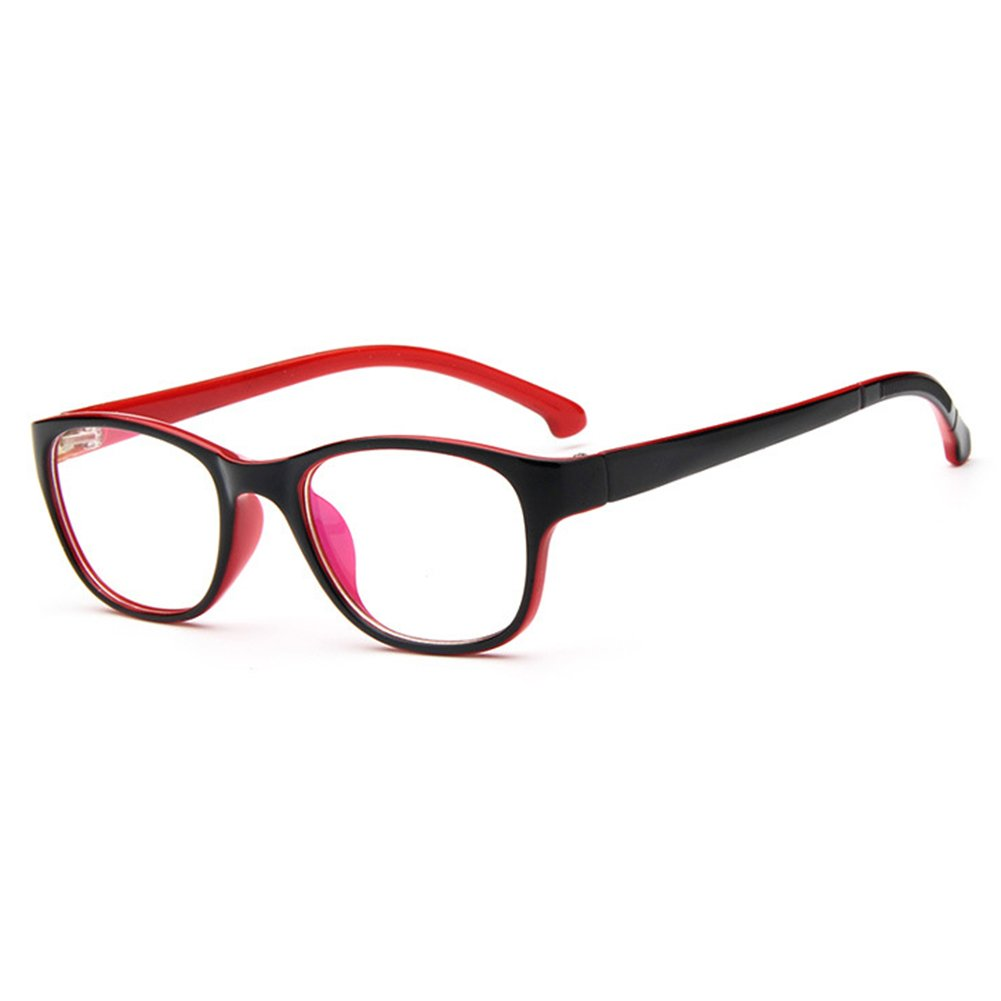 Junkai Mädchen Jungen Klare Linse Brillengestell + Auto Form Brillenetui - ka17112210 X171122ETYJJ1002-ka