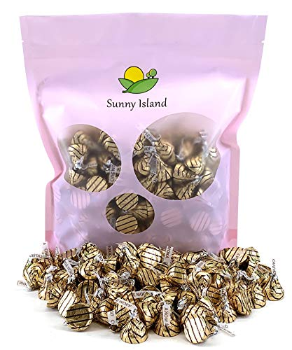 Sunny Island Bulk -Hershey's Kisses Candy Espresso,Milk Chocolate Cafe Mocha Flavor, 2 Pounds Bag ()