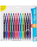 Sanford Paper Mate Profile Retractable Ballpoint Pens, 12-Pack, Assorted Colors (1788863)
