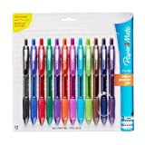 Paper Mate Profile Retractable Ballpoint Pens, Bold (1.4mm), Assorted Colors, 12 Count фото
