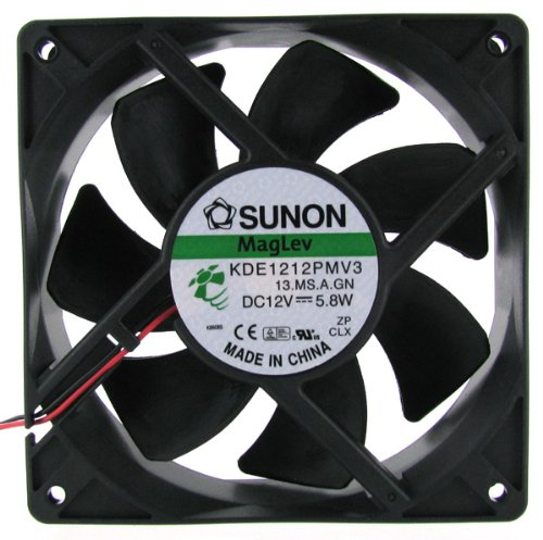 Sunon High Performance DC 12V 120 x 120 x 38mm Magnetic Fan (Two Wires) by Sunon