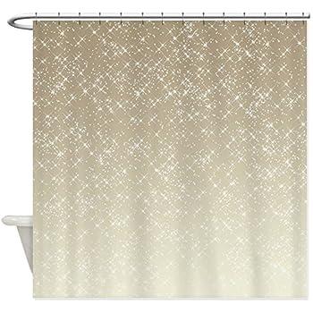 CafePress Cream Sparkles Decorative Fabric Shower Curtain