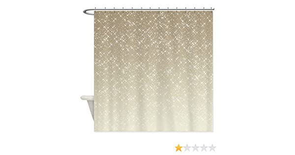 Amazon CafePress Cream Sparkles Decorative Fabric Shower Curtain 69x70 Home Kitchen