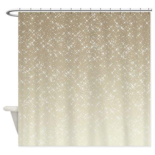CafePress - Cream Sparkles - Decorative Fabric Shower Curtain (Shower Curtain With Sparkles)