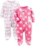 Simple Joys by Carter's Baby Girls' 2-Pack Fleece Footed Sleep and Play, Owl,Unicorn, 6-9 Months: more info