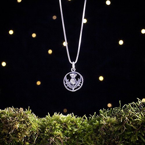 Sterling Silver Scottish Thistle - Small, Double Sided - (Charm, Necklace, or Earrings)