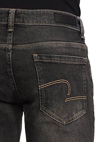 Spykar Men's ECSKN-01AI-54 Skinny Jeans 2021 August Care Instructions: Machine Wash Fit Type: Skinny Color: Carbon Black
