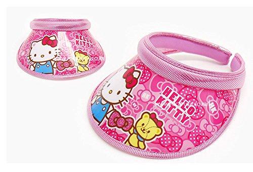 hello-kitty-girls-sun-visor-hat-cap-outdoor-beach-kitty-bear-