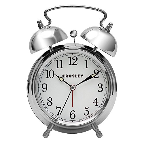 Crosley Analog Alarm Clock,Silver