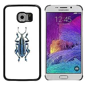 TopCaseStore / la caja del caucho duro de la cubierta de protección de la piel - Minimalist Pattern White - Samsung Galaxy S6 EDGE SM-G925