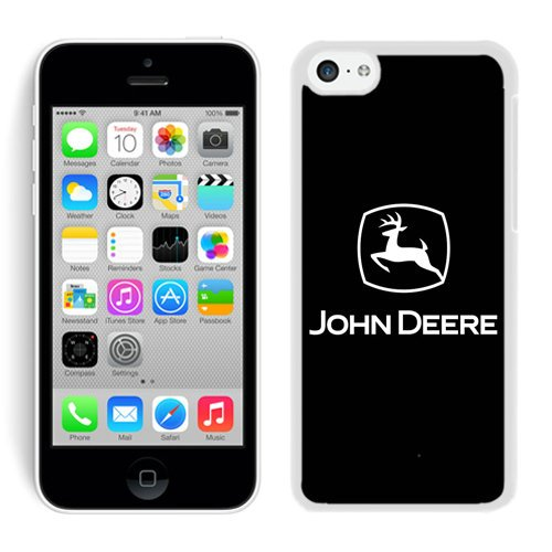 John Deere Logo 2 White Shell Case for iPhone 5C,Luxury Cover (John Deere Phone Cases 5c)
