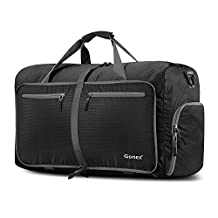 Gonex 60L Foldable Travel Duffel Bag for Luggage, Gym, Sport, Camping, Storage, Shopping Water & Tear Resistant (Black)