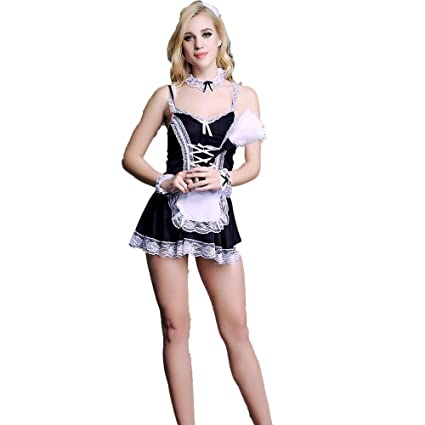 Amazon.com: Sexy Lingerie, Ladies French Maid Apron Adult ...