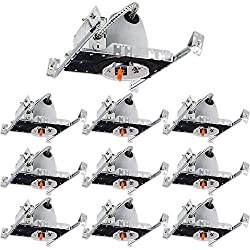 Sunco Lighting 10 Pack 4 Inch New Construction LED Light Can Air Tight IC Housing, Recessed Lights, LED Downlight, for Retrofit Kit, Electrician Prefered - UL Listed and Title 24 Certified (TP24)