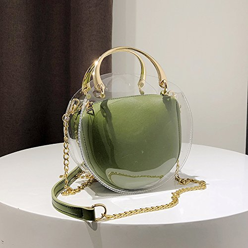 Clear NFL With Handbag Bag Inner Tote Round Waterproof with Messenger Purse Bag Crossbody Approved Bag Transparent Clear Pu Stadium Inner Green Shoulder IInvTOa