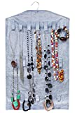 Hanging Jewelry Organizer from Unjumbly, Surpassing all Jewelry Hangers - Inbuilt Rotating Hanger, 32 Varying Sized Pockets and 18 Large Hoops, Keeping Your Closet Organized