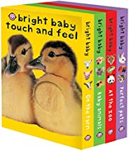 Bright Baby Touch & Feel Boxed Set: On the Farm, Baby Animals, At the Zoo and Perfect