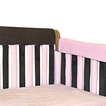 Wonder Bumpers Go Mama Go Designs Teething Guard Pink//Cream 52 X12-Inch