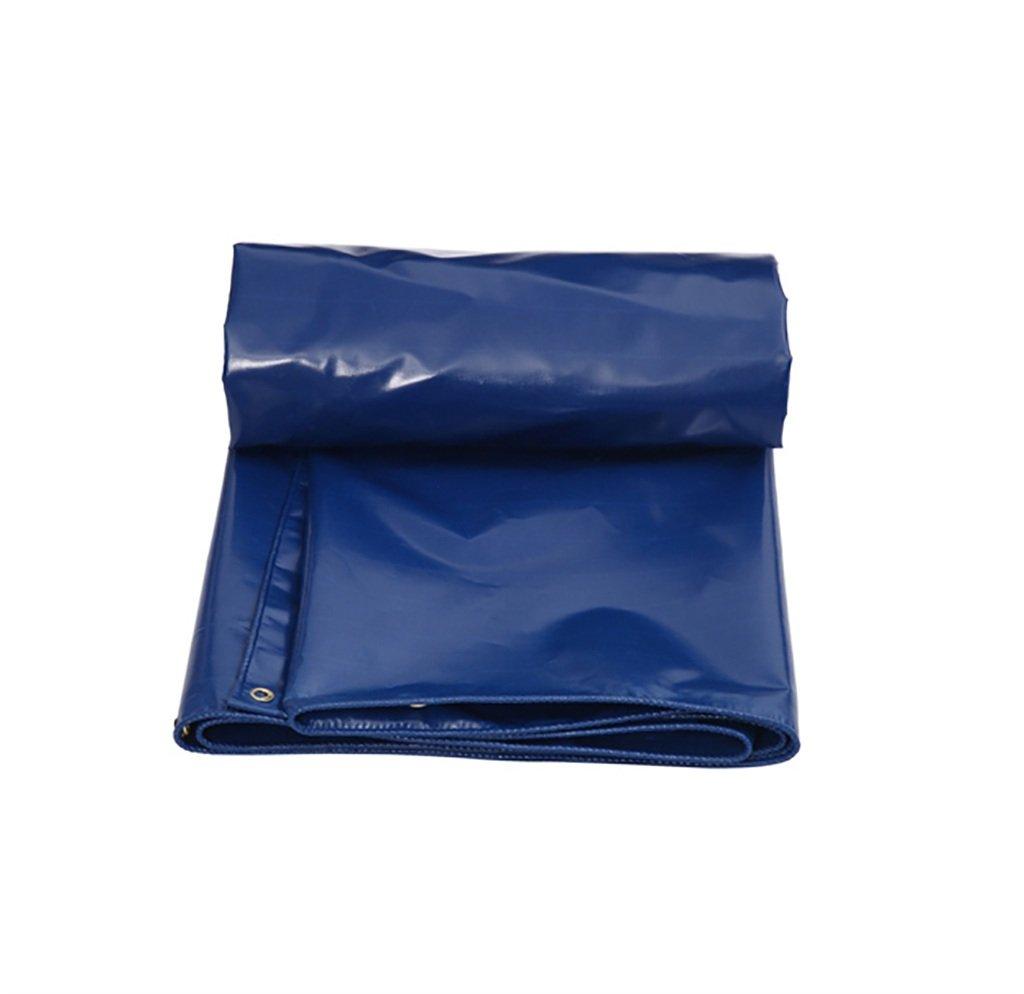ターポリン高強度肥厚PE防雨トラック区画貨物ヤードヤードテントクロス屋外0.5 mm 0.55 kg/m2青5サイズ (サイズ さいず : 6*4M) 6*4M  B07DCTLXNT