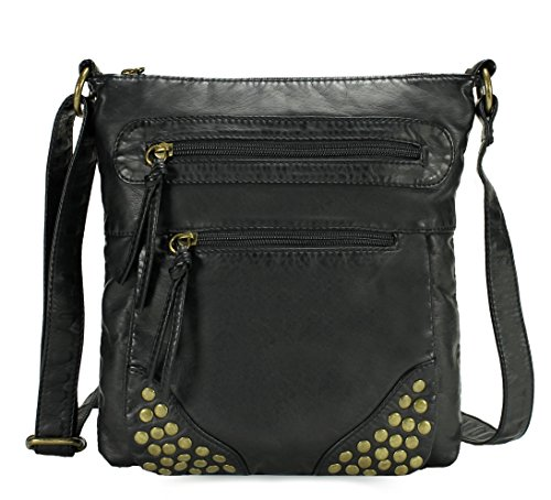 Scarleton Trendy Multi Zip Crossbody Bag H1933