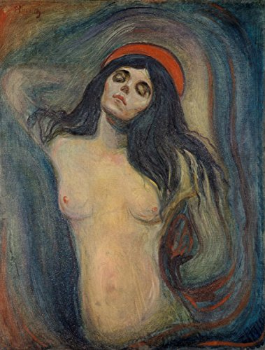 Wall Art Impressions Quality Prints - Laminated 24x31 Poster Edvard Munch - Madonna -