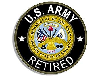 Amazoncom American Vinyl Round Us Army Retired Sticker Bumper - Us-military-vet