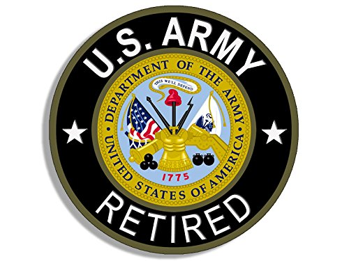 (American Vinyl Round U.S. Army Retired Sticker (us Unites States))