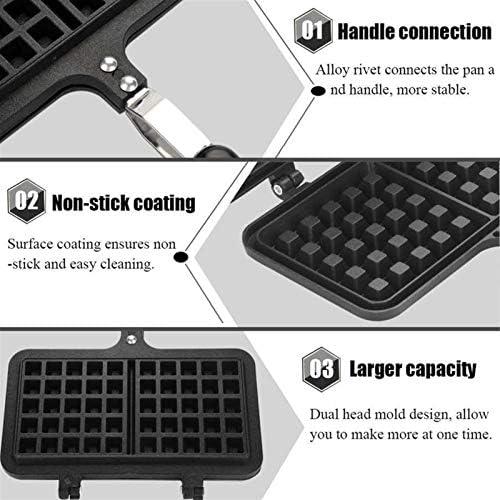 Zhang Xiaoyu Électrique antiadhésifs Gaufres Fer à repasser machine à gaz de cuisine maison Pan Bubble Egg gâteau du four petit-déjeuner Machines-outils gaufriers (Size : Large)
