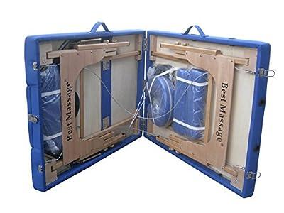 Blue PU Reiki Portable Massage Table w/Carry Case U9