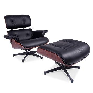 Eames Lounge Chair Fauteuils.Meubles Shop Uk Reproduction Eames Lounge Fauteuil Et Repose Pieds En Cuir Taille H 84 Cm W 80 Cm D Tabouret 52 X 52 Cm H 48 Cm W 64 Cm P 54