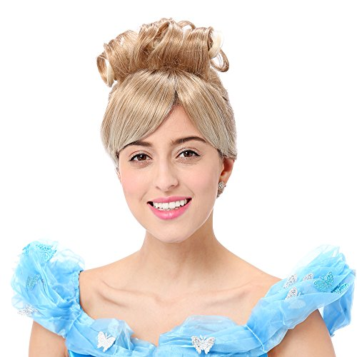 Adult Cinderella Wig (STfantasy Cinderella Wig for Women Princess Cosplay Costume Halloween Party Short Curly Blonde Hair)