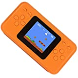 """QINGSHE Handheld Game Console for Kids,Electronics Toys Portable Video Console Player,2.5"""" LCD 8Bit 98 in 1 Classic Retro Games Arcade Video Gaming System,Great Gift Loved by Children Age 4-16 -Orange"""
