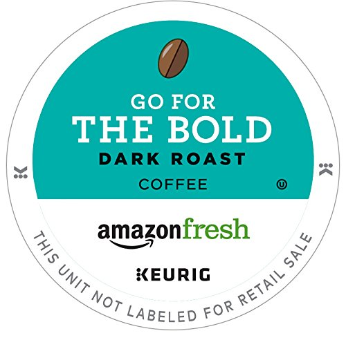 AmazonFresh 80 Ct. Coffee K-Cups, Go For the Bold Dark Roast, Keurig Brewer Compatible
