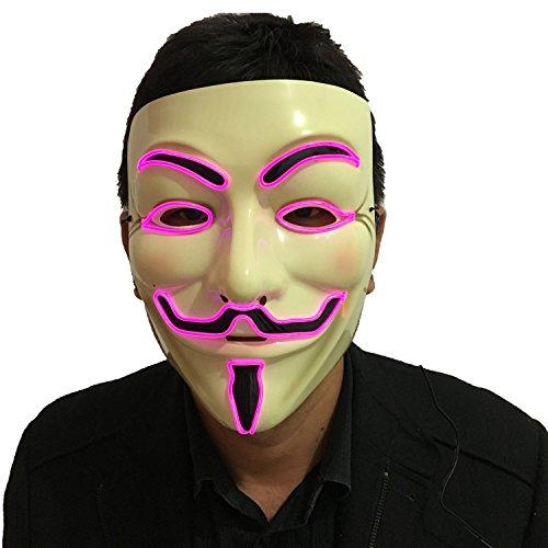 DevilFace Halloween Light Up V Mask EL Wire