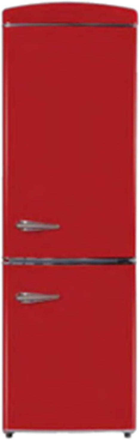 Equator-Ascoli 10.8 cu.ft. Energy Star Bottom Freezer Retro Refrigerator; Red