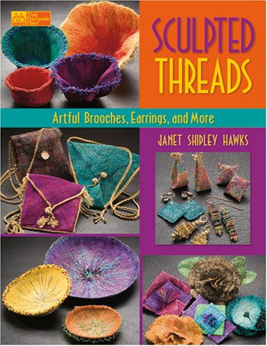 Sculpted Threads Brooches Earrings Patchwork