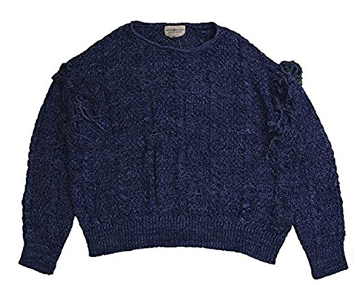 Denim & Supply Ralph Lauren Womens Cable Knit Marled Pullover Sweater Blue S (Polo Sweater Cable Ralph Lauren)
