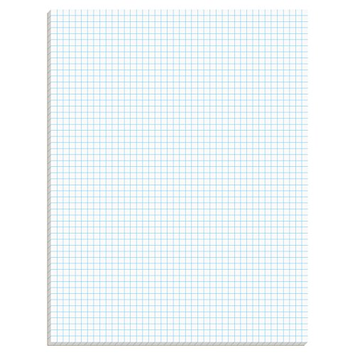 Ampad Efficiency Quadrille Pad, 8-1/2 x 11, White, 5x5, 50 Sheets per Pad, 10 Pads per Pack (22-032C)