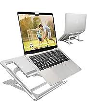 """ELZO laptopstandaard, ergonomisch notebookstandaard, multi-hoek verstelbaar, hoogte instelbaar, MacBook standaard voor Dell, HP, Samsung, Lenovo alle 10"""" ~ 17,3 inch tablet zilver"""