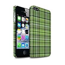 STUFF4 Gloss Hard Back Snap-On Phone Case for Apple iPhone 4/4S / Irish Plaid/Tartan Design / Green Fashion Collection